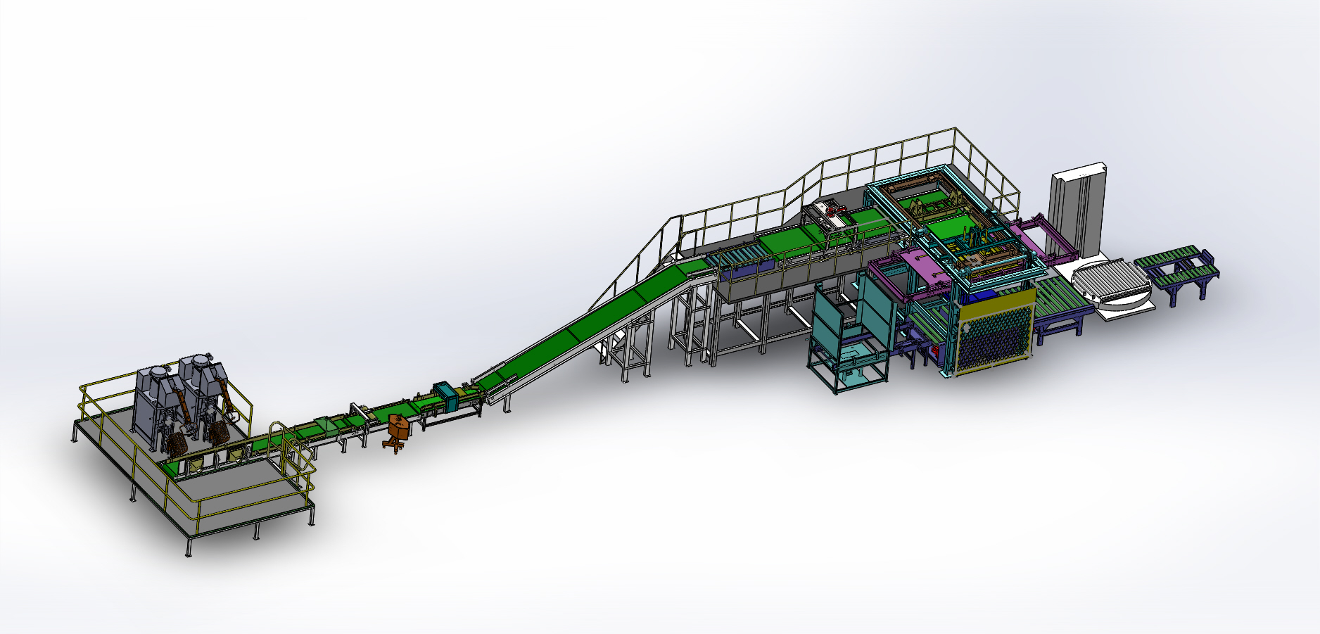 Fully-automatic Packing&Palletizing System